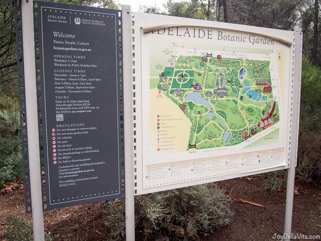 Adelaide Botanic Garden Map