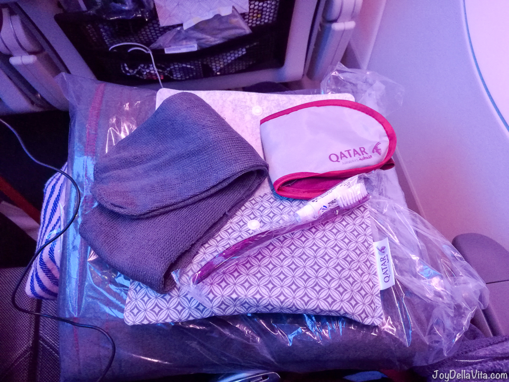 Qatar Airways Economy Class Amenity Kit JoyDellaVita
