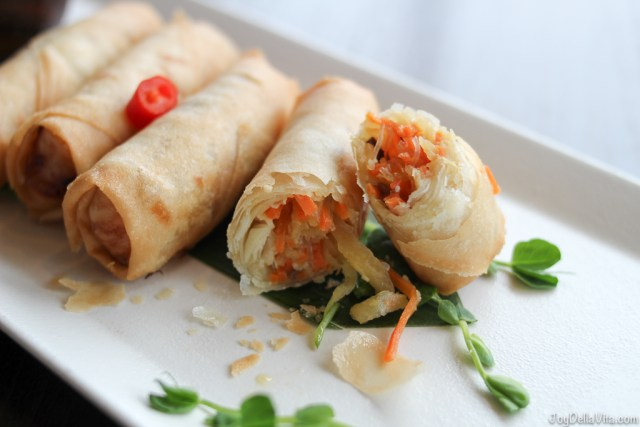 VEGETABLE SPRING ROLLS Chaophraya Thai Restaurant Edinburgh JoyDellaVita