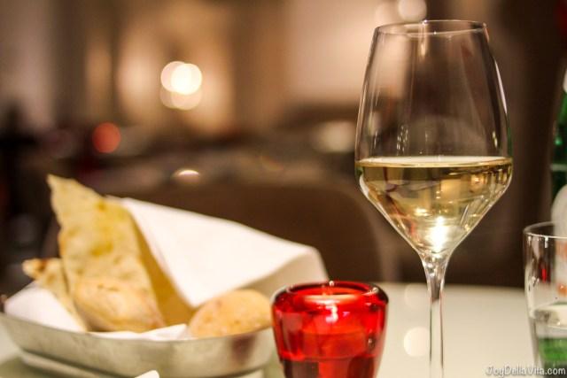 Pinot Grigio White Wine Hotel Restaurant NH Collection Roma Palazzo Cinquecento