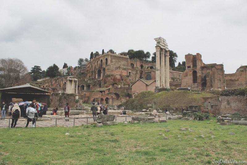 Il Tempio dei Dioscuri Roman Forum Rome Winter JoyDellaVita