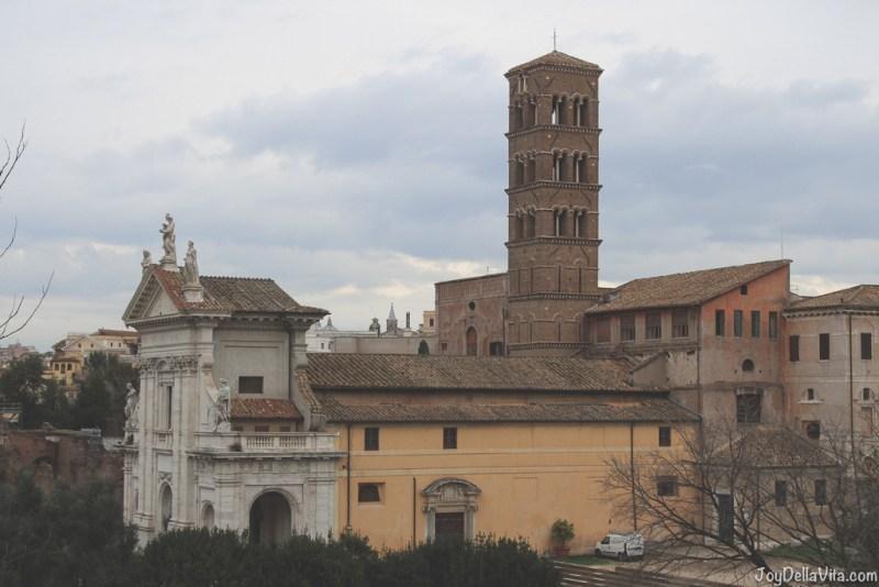 Santa Francesca Romana Basilica di Santa Francesca Romana Roman Forum Rome Winter JoyDellaVita