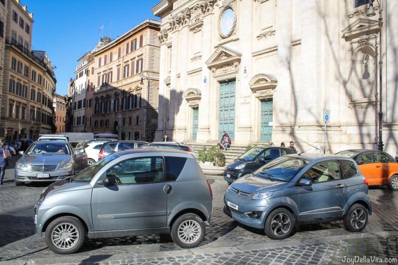 Aixam Cars in Rome Vespa small Cars Rome joyDellaVita