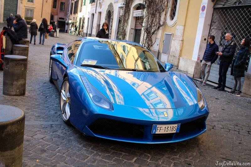 Ferrari 488 Vespa small Cars Rome joyDellaVita