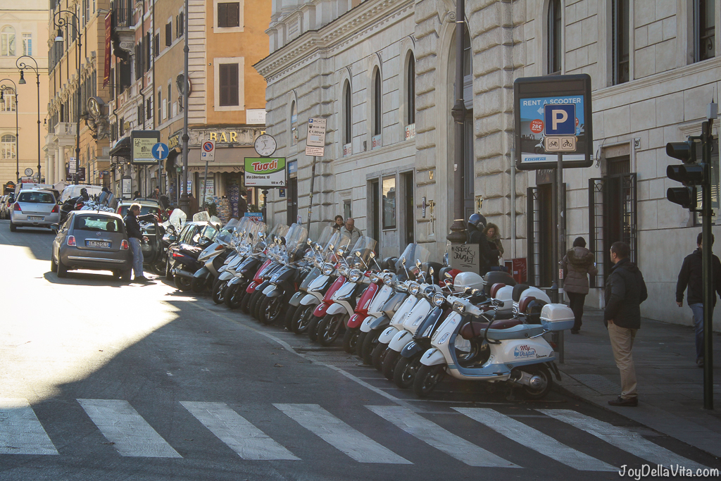 Rental Vespas in Rome Vespa small Cars Rome joyDellaVita