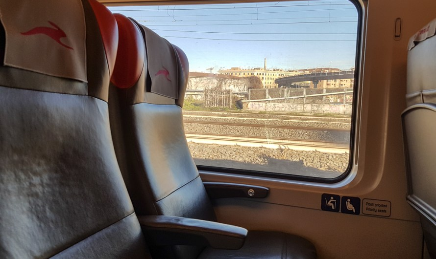 italo Train from Naples to Rome in Italy
