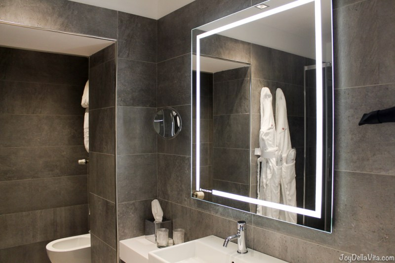 spacious Bathroom nh Collection Hotel Cinquecento Rome JoyDellaVita
