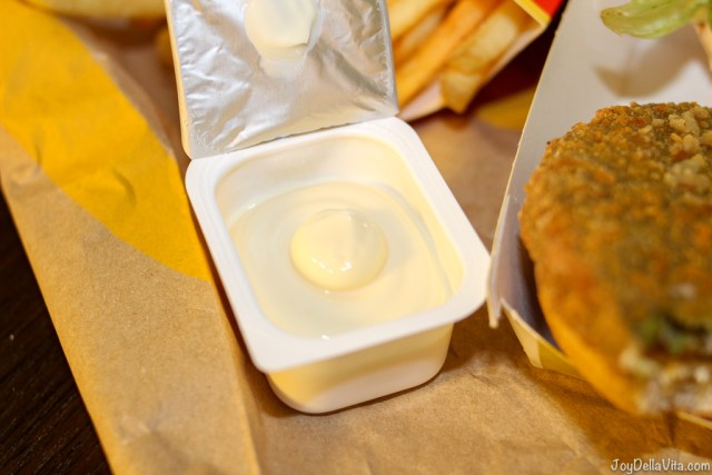 McDonalds mayonnaise packaging in Italy