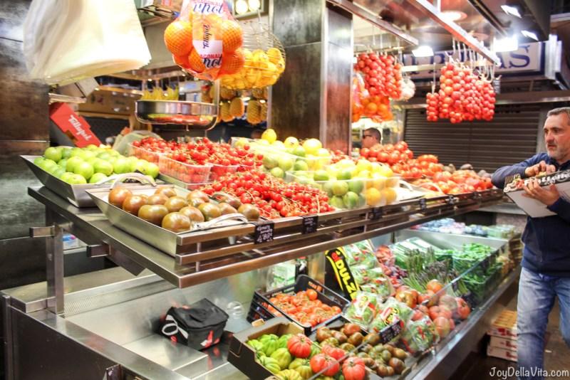 Mercado de La Boqueria Market Rambla Barcelona Travelblog JoyDellaVita