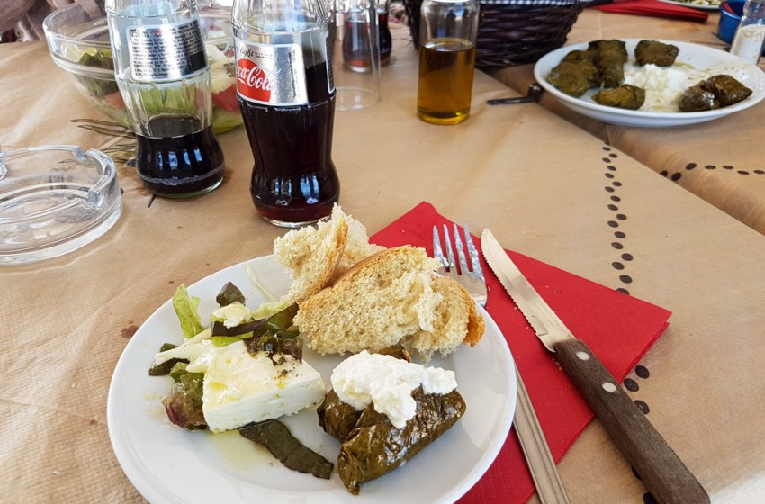 Akrogiali Restaurant in Kato Zakros by the Beach / Island of Crete