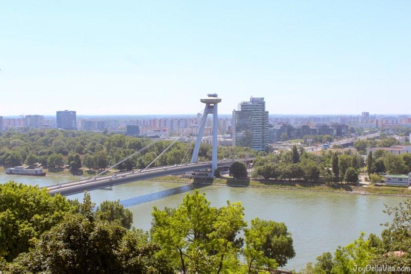Novy Most UFO Bridge in Bratislava Castle Old Town Tour by Bratislava Free Tour -  JoyDellaVita.com