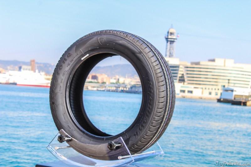 the new Firestone Roadhawk model at the harbour of Barcelona - Firestone Roadhawk Tire Barcelona - Travel blog JoyDellaVita.com