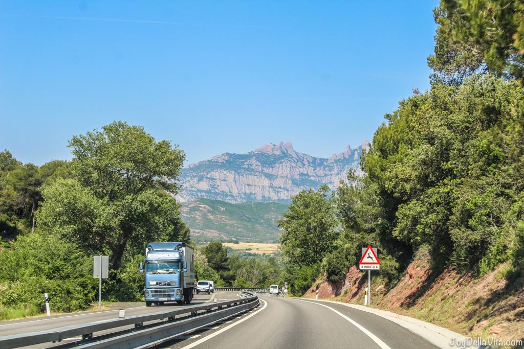 Montserrat mountain range in Catalonia, near Barcelona -  Firestone Roadhawk Tire Barcelona - Travel blog JoyDellaVita.com