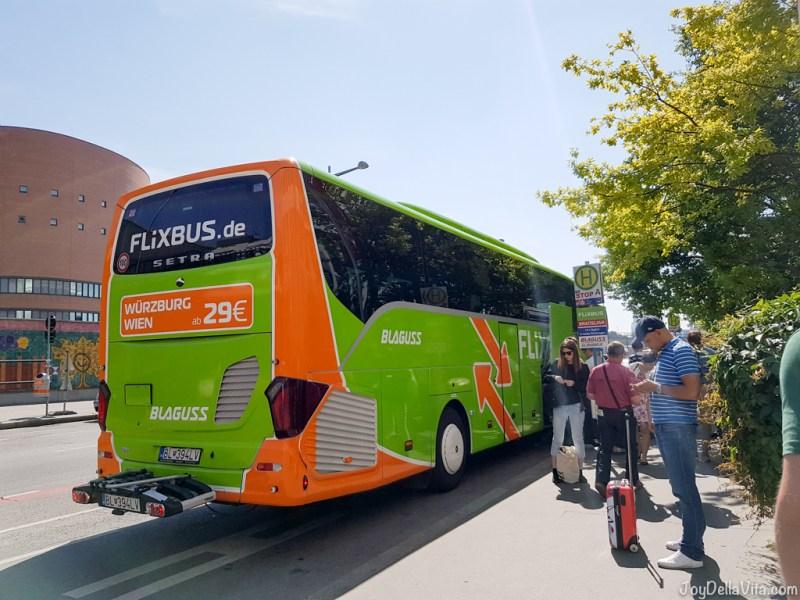 Vienna Erdberg Busbahnhof VIB - FlixBus Vienna Bratislava - JoyDellaVita.com