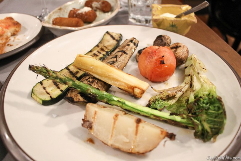 selection of grilled vegetables Mussol Arago Tapas Barcelona Casa Battlo -  JoyDellaVita.com