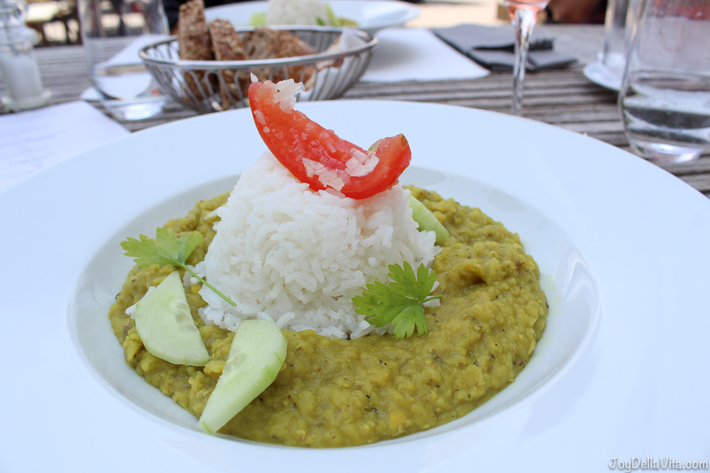 Dhal with almond rice and coriander -- Organic Restaurant Castle Wartegg Rorschacherberg - JoyDellaVita.com
