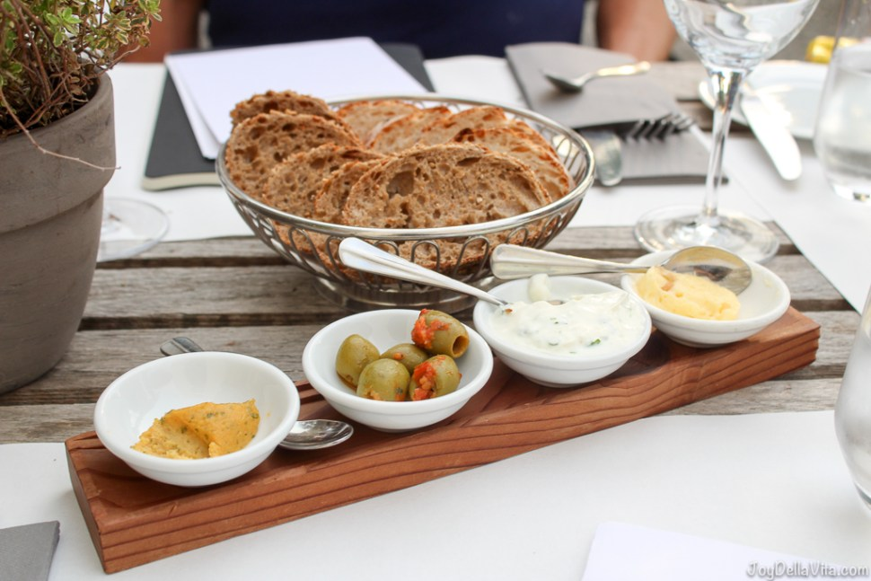 Fresh Breads with various spreads - my highlight: pear butter -- Organic Restaurant Castle Wartegg Lake Constance St Gallen - JoyDellaVita.com