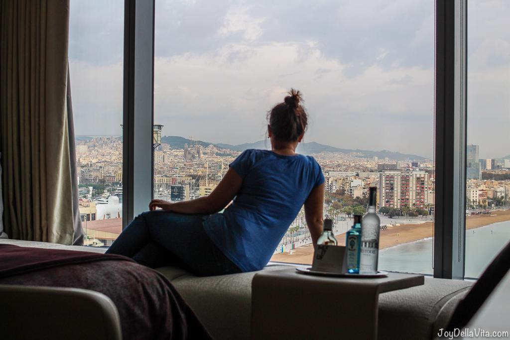 W Barcelona View Girl Blogger - JoyDellaVita.com