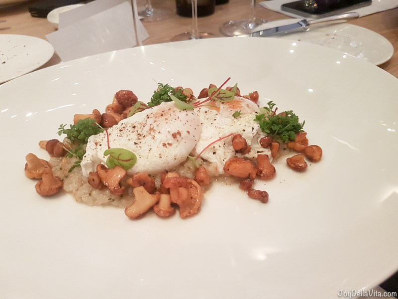 Risotto, chanterelles and poached eggs- -  Michelin Top Air Restaurant Stuttgart Airport - JoyDellaVita.com