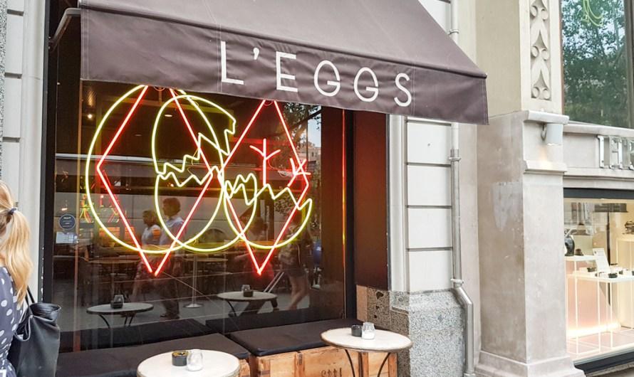 Dinner at L'EGGS Restaurant Barcelona