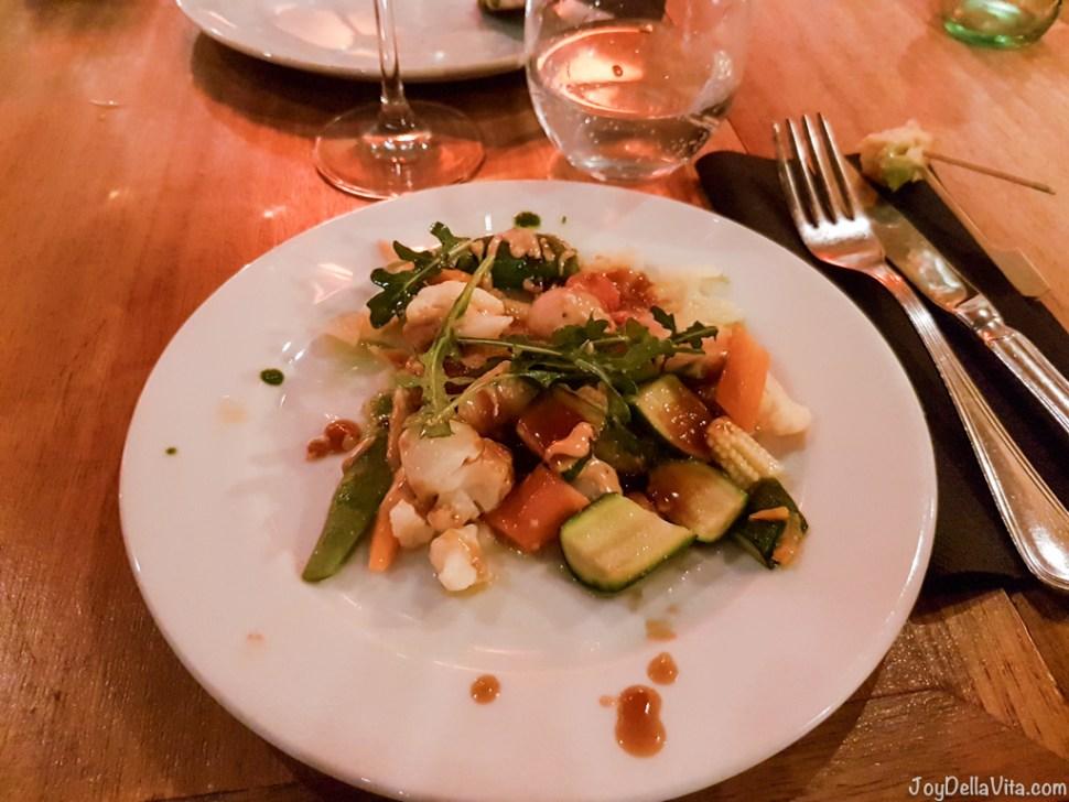 Main dish during Dinner at L'EGGS Restaurant Barcelona