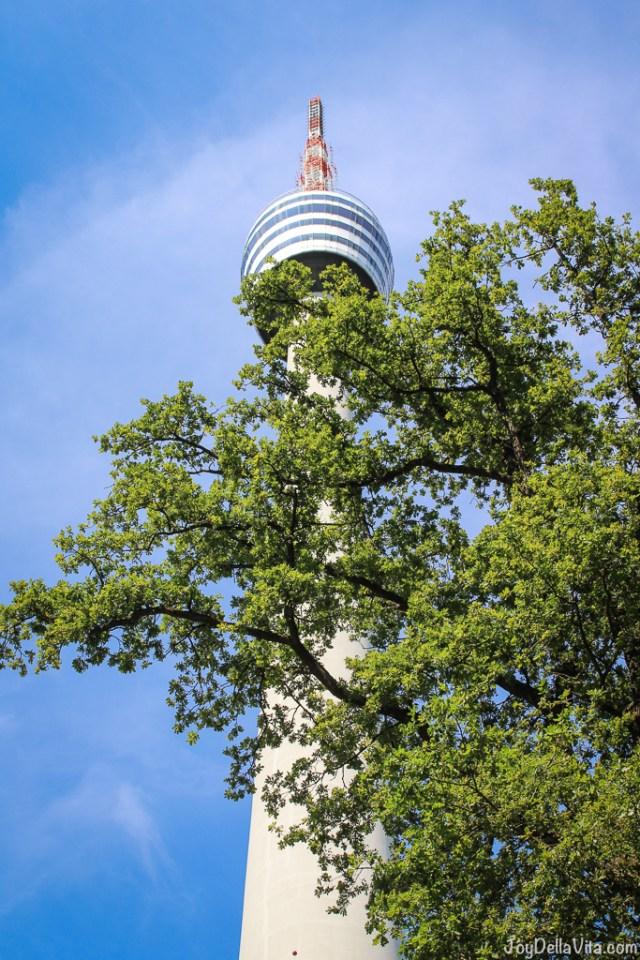207 m high tower -- TV Tower Stuttgart Fernsehturm Travelblog JoyDellaVita.com