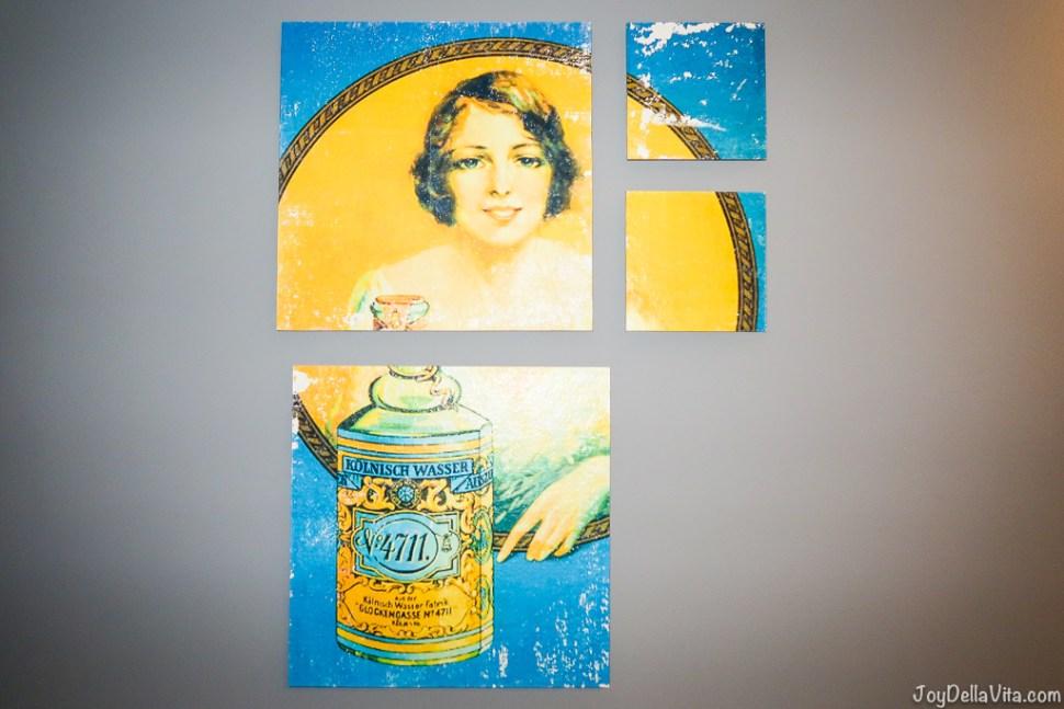 4711 Original Eau de Cologne Advertisement Artwork Lindner City Plaza Hotel Cologne