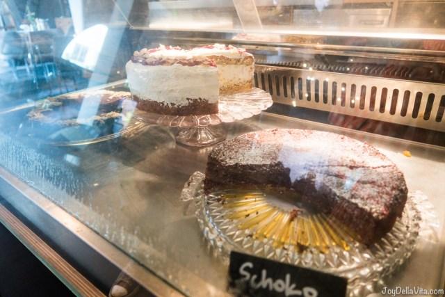 fresh homemade cakes at Cafébar im Kunstverein Frankfurt