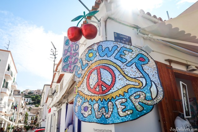 Ibiza Flower Power Sign