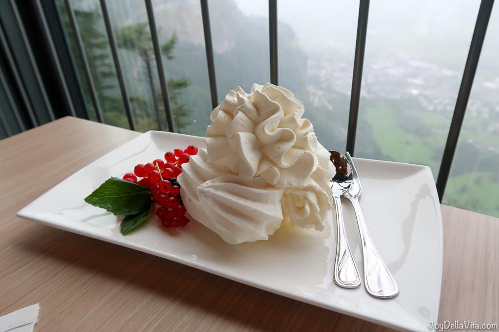 Ice-Cream Meringue Karren Panorama Restaurant in Dornbirn / Vorarlberg