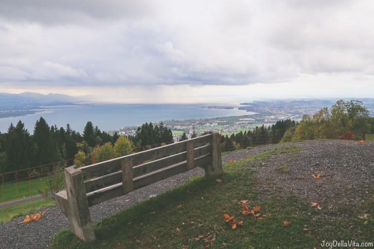 Viewpoint on Lake Constance/ Bodensee above Bregenz in Vorarlberg