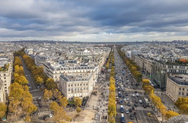 View from Arc de Triomphe Paris at Place Charles de Gaulle