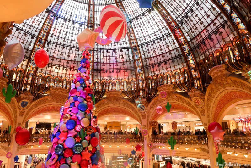 Christmas Tree At Galeries Lafayette In Paris And