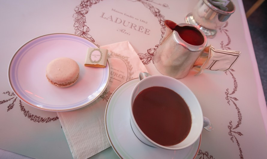Hot Chocolate at Laduée at Champs Elysees in Paris