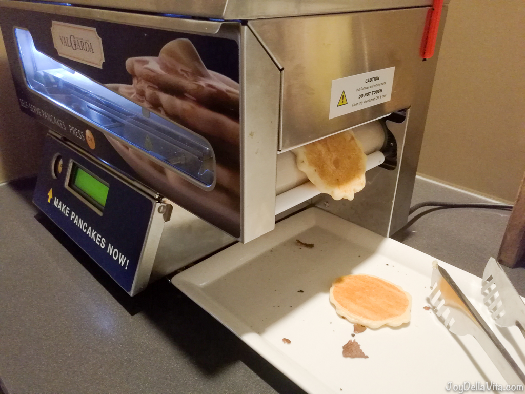 Pancake Machine for fresh pancakes made in seconds in front of your eyes! Lindner City Plaza Hotel Cologne First Class Room Review Travel