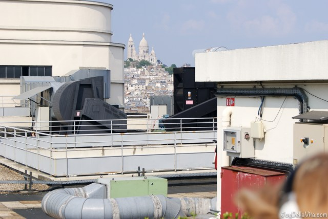 Montmartre and the 7th floor of galeries lafayette (industrial chic as some might call it ... ) Panorama Terrace Galeries Lafayette Paris 7th floor Travel Blog JoyDellaVita