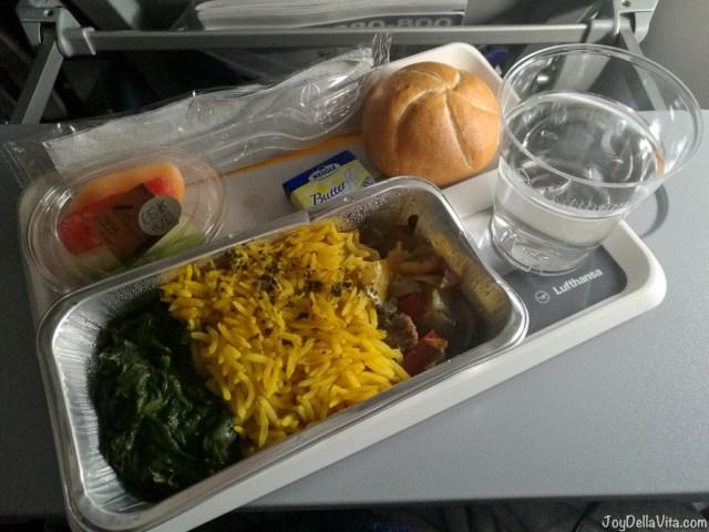 Lufthansa A380 Economy Class Economy Class Hot Snack before landing