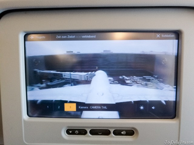 Lufthansa A380 Economy Class Infotainment System Touchscreen Camera Tail