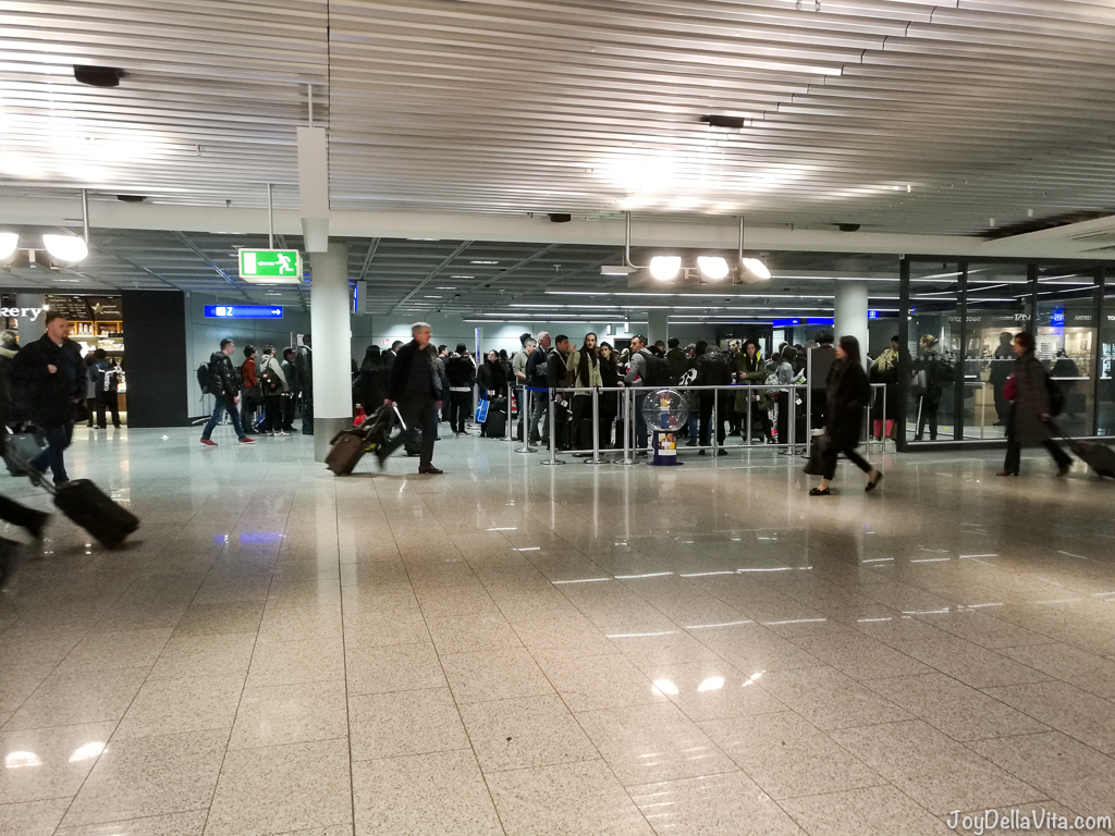 Security Checks Passport Controll Frankfurt Airport USA Los Angeles