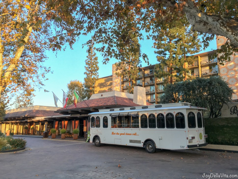 old bus in front the The Garland Hotel North Hollywood
