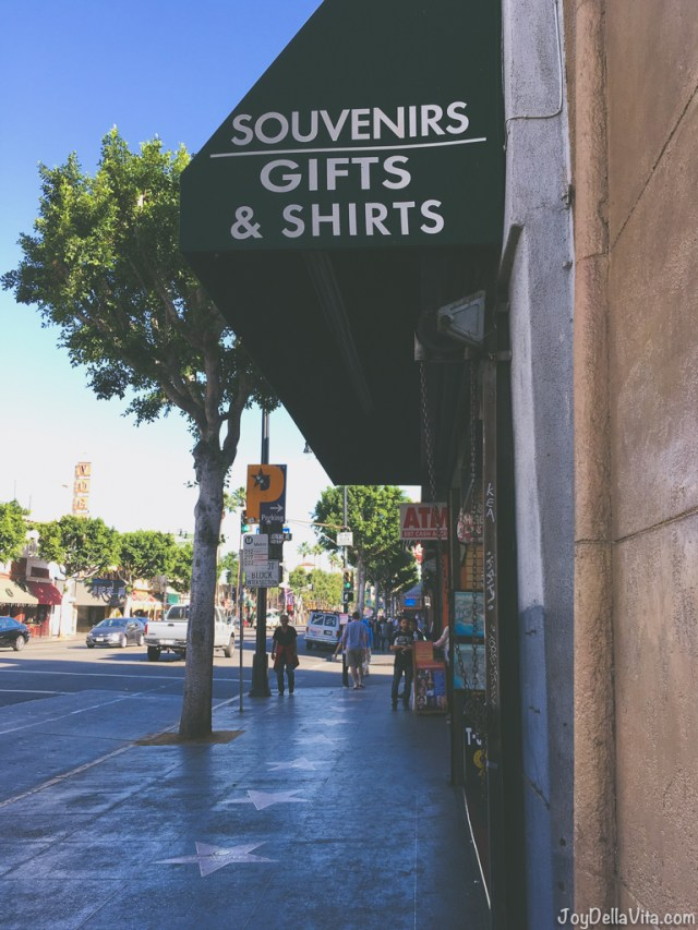Souvenir and Gift Shops on Walk of Fame