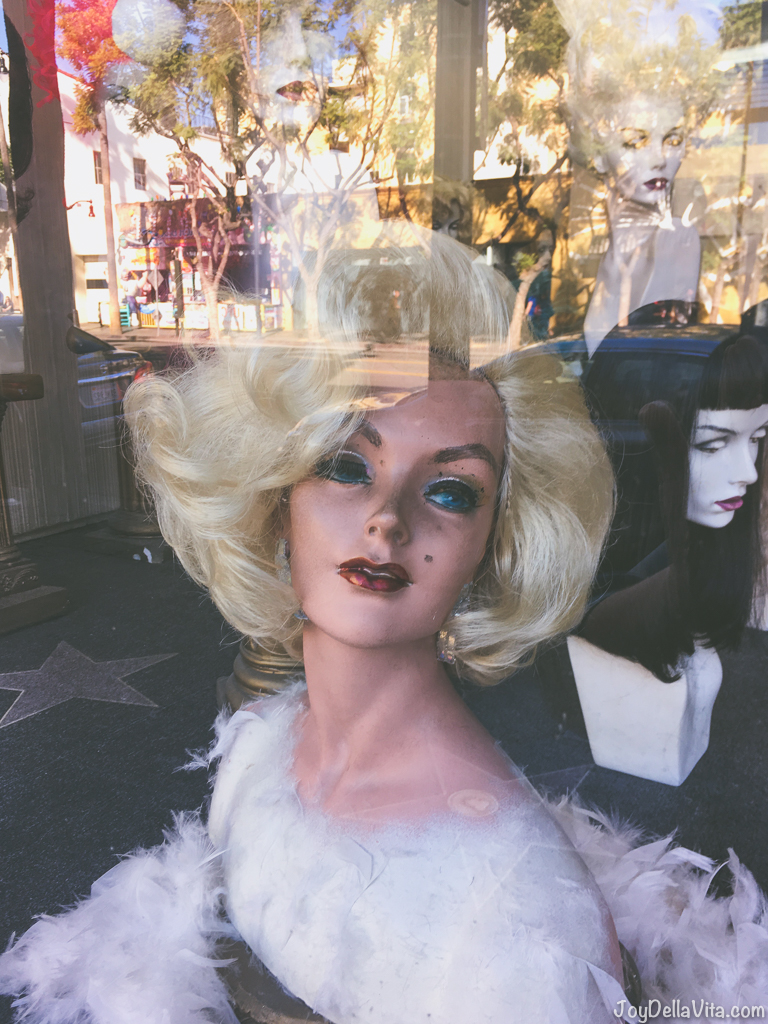 Marilyn Monroe Wig Shop on Walk of Fame