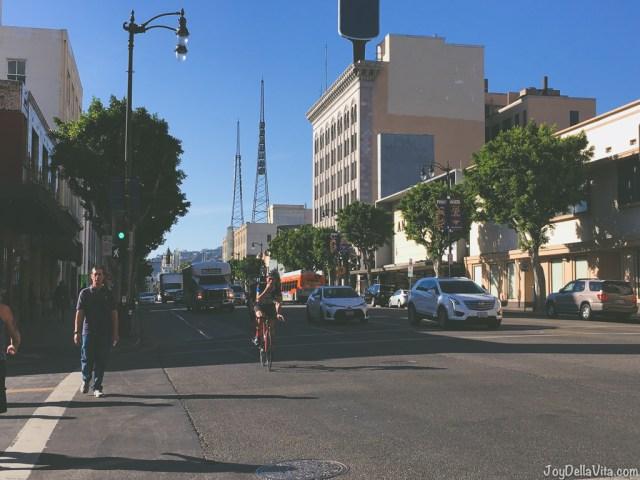 Walking Walk of Fame Hollywood Boulevard Los Angeles Tourist