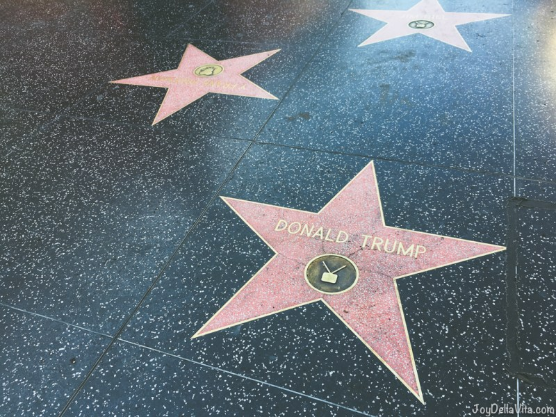 Donald Trump Star on Walk of Fame, December 2017