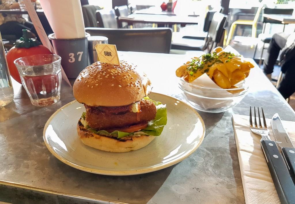 Veg Out Burger Gourmet Burger Kitchen Liverpool