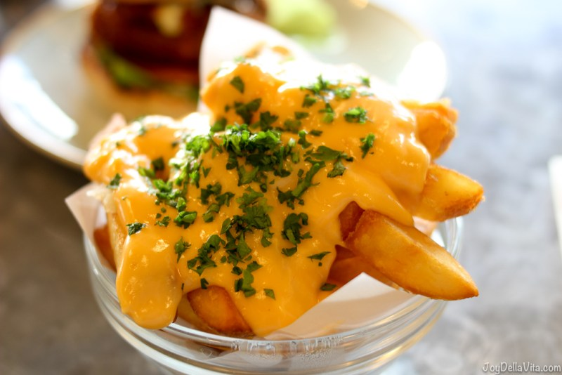 Fries with hot cheese sauce at Gourmet Burger Kitchen GBK Liverpool