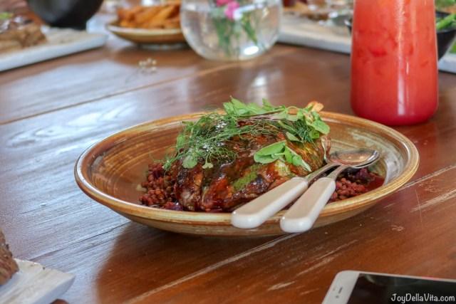 18-hour slow cooked lamb shoulder, lentils, garden beetroot & fresh herbs Pialligo Estate Canberra