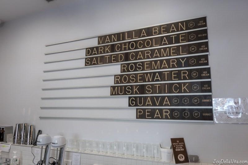 Frugii Canberra Ice Cream / Gelato flavors