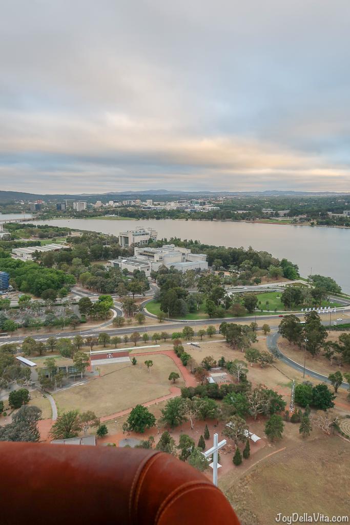 flying above Canberra
