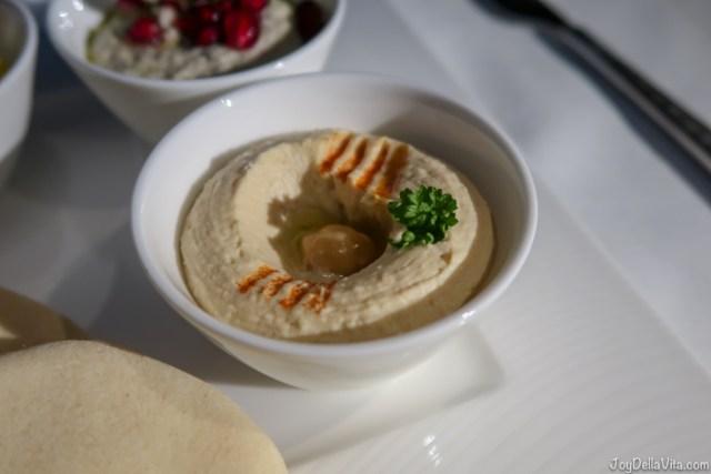 Hummus Qatar Airways Business Class